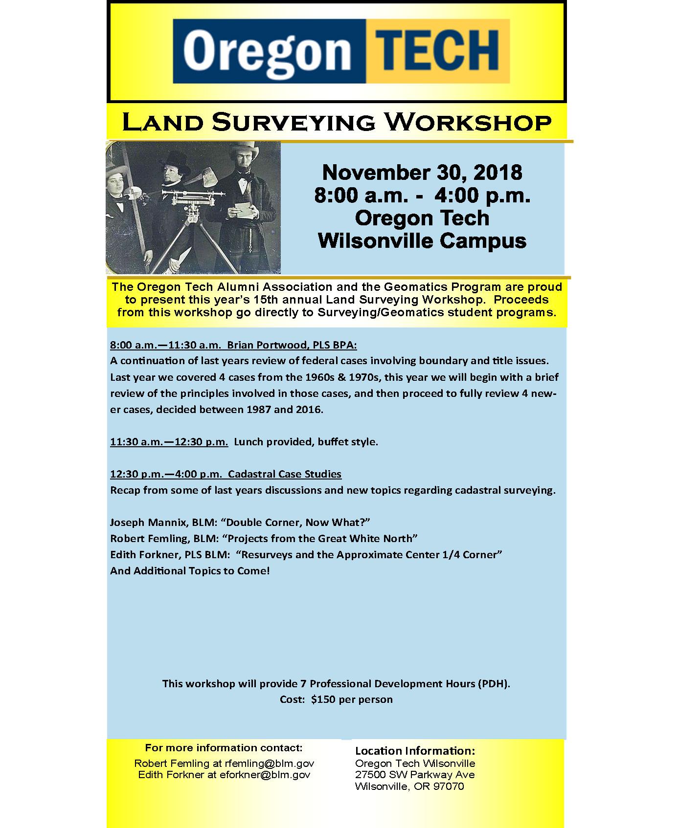 2018 Land Surveyers Workshop