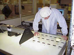 MECOP internship: Josh Vail programming optical measurement machine