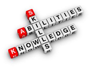 Skills, Abilities, Knowledge scrabble