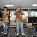 victory from indonesia was singing at the international dinner
