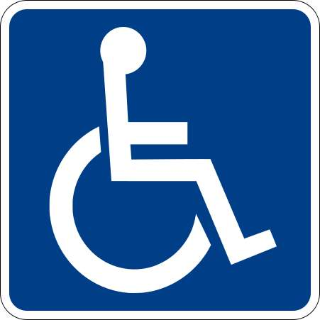 handicapped accessible sign