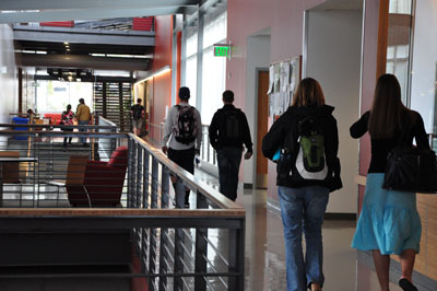 Students in Hall of CHP