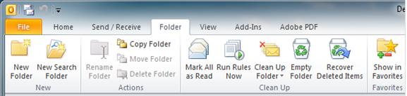 Outlook Folder Tab