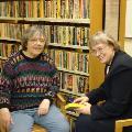Dr. Rosemarie Arbur and librarian, Karen Kunz in the Arbur Collection