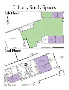 Wilsonville campus library map