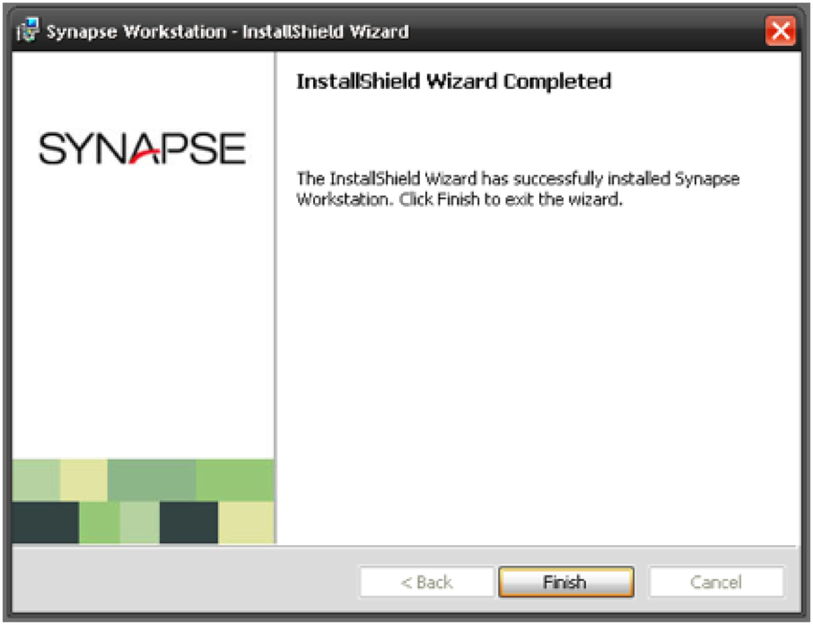 Synapse Software Install Completion