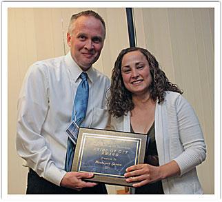 Mackenzie Garton with Dr. Roger Lindgren, faculty presenter
