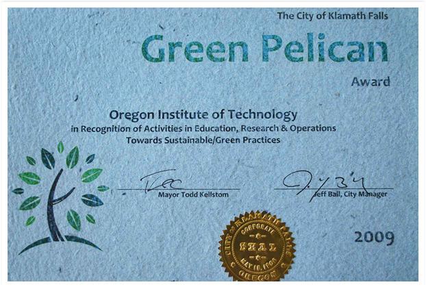 Green Pelican Award
