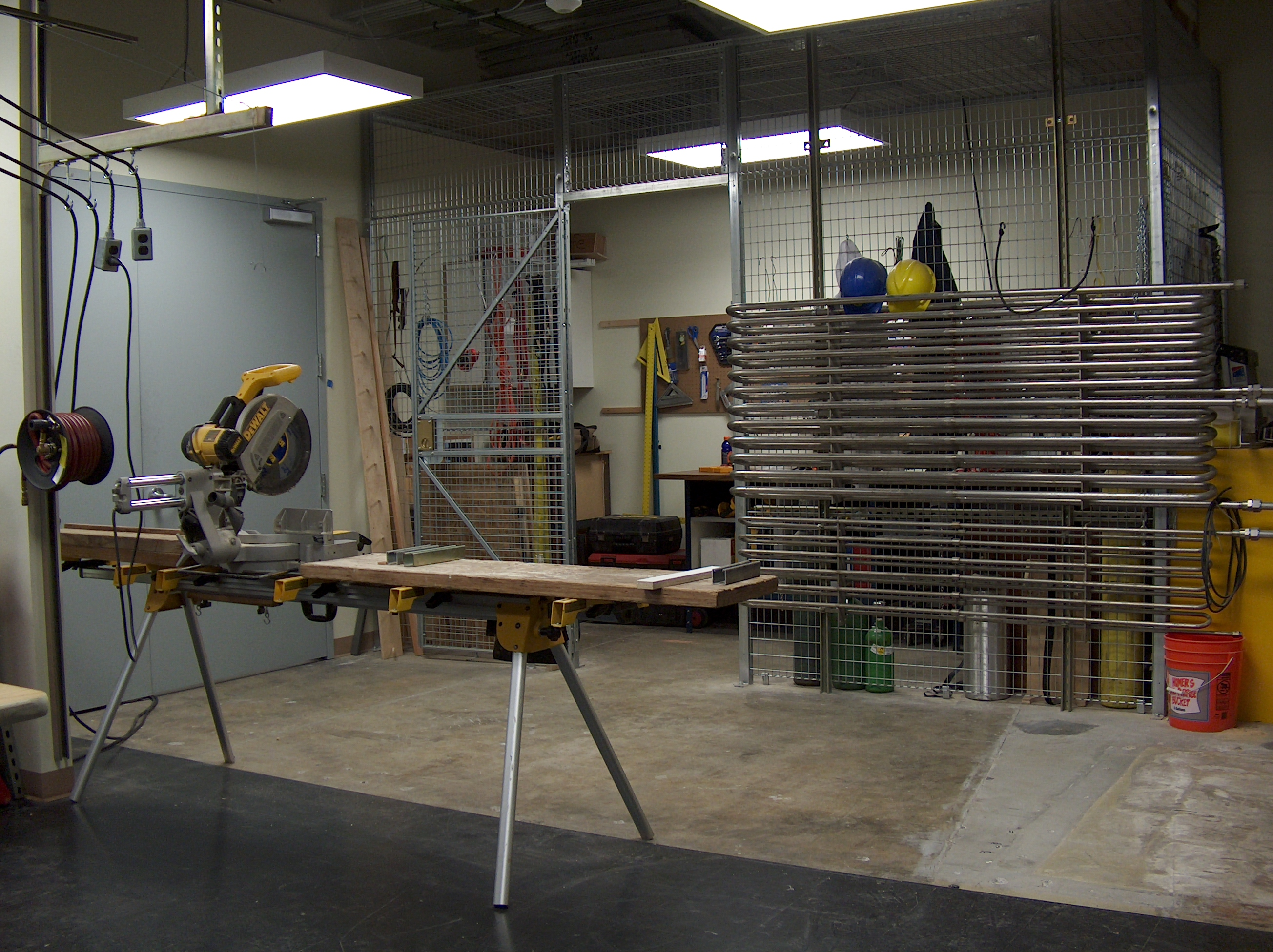 Chop Saw and Tool Storage