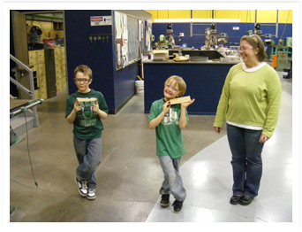 Cub Scouts Work with OIT Student