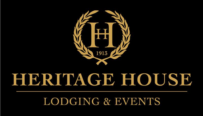 Heritage House Logo - Gold on Black - 800x457