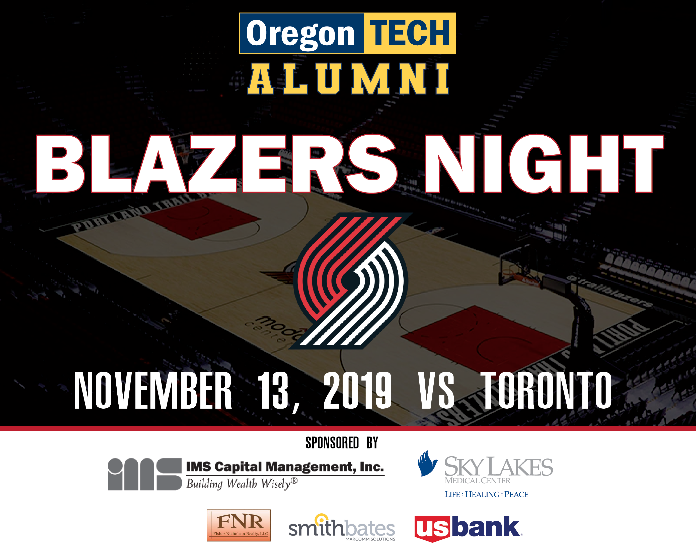 2019 Blazers Night with logos
