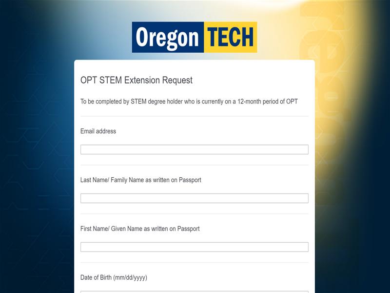 OPT STEM Extension Request