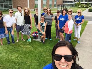 inaugural Hootie's Loop walk on May 30, 2017