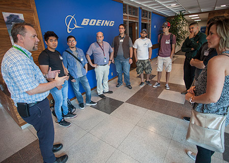 Students Touring Boeing