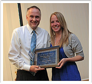 Adrienne Busch with Dr. Roger Lindgren, faculty presenter