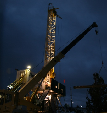 OIT drilled a new hot-water well in January of 2009