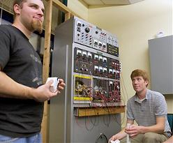 Students in the OREC lab