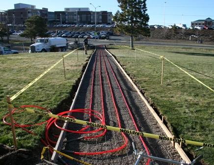 Geothermal Sidewalk Construction