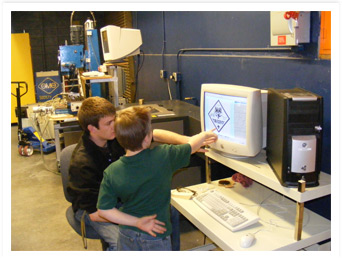 Cub Scouts learn about Computer Aided Design